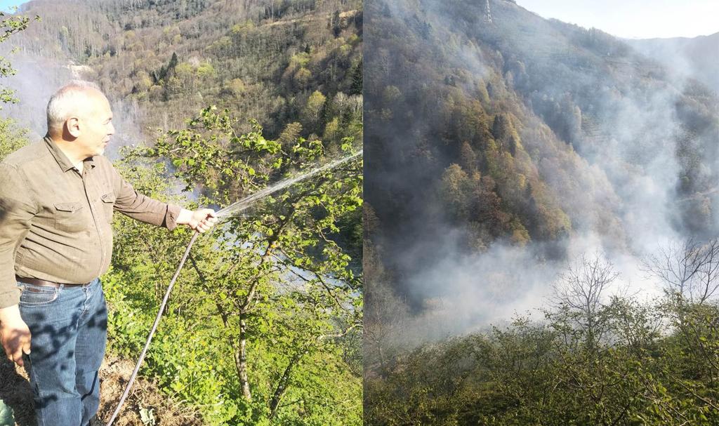 Çatalağaç Köyü'nde Yangın