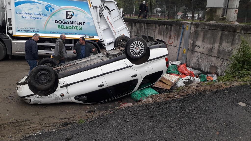 Doğankent'te Trafik kazası meydana geldi