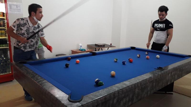 Doğankent'te Bilardo salonu faaliyete başladı