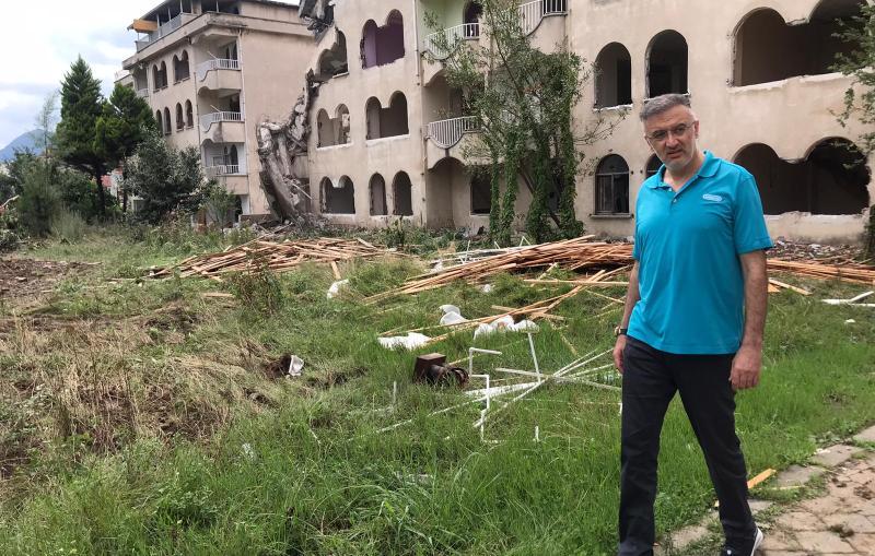 Bulancak'ta Millet Bahçesi için ilk kazma vuruldu