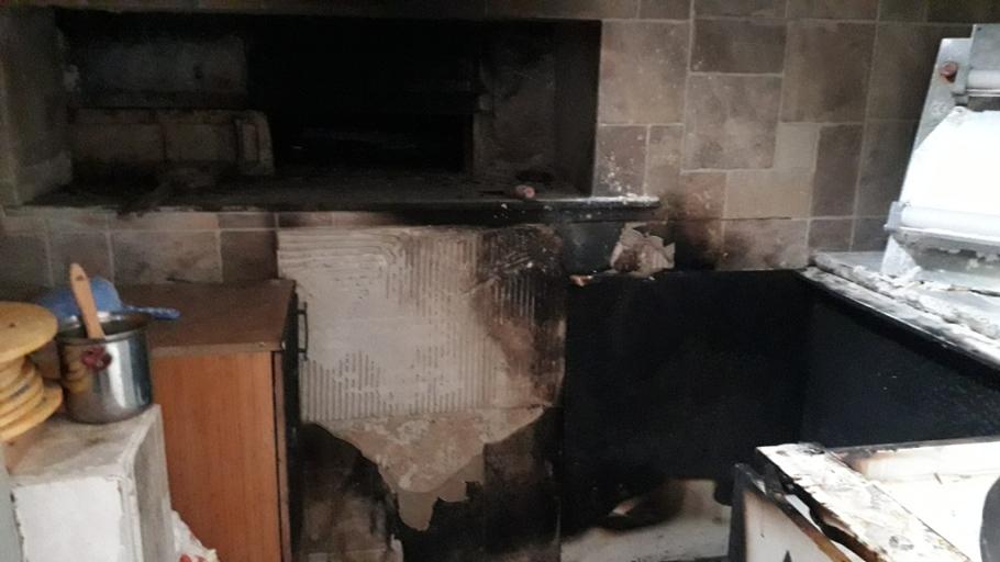 Harşıt Pide Salonunda yangın meydana geldi