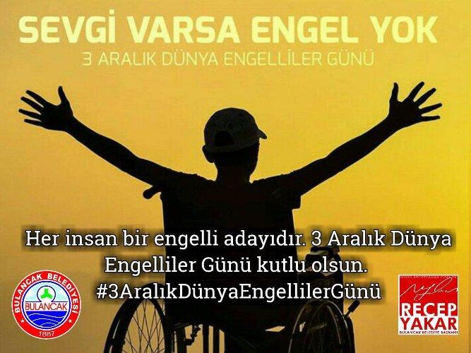 Başkan Yakar'dan 3 Aralık Dünya Engelliler günü mesajı