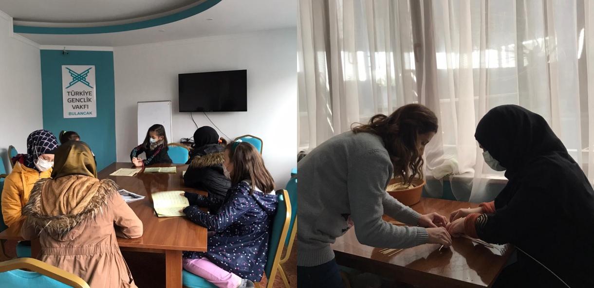 TÜGVA'da Anneli-Çocuklu Kurslar