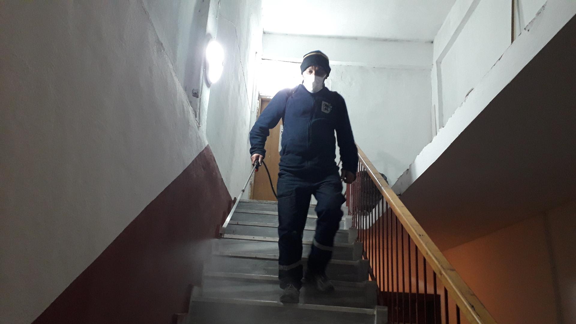 Şafak Apartman Sitesi Dezenfekte Yapıldı