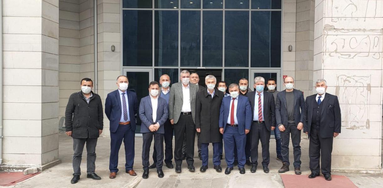 Milletvekili Pektaş, Belediye Başkanı Şen'i Ziyaret Etti