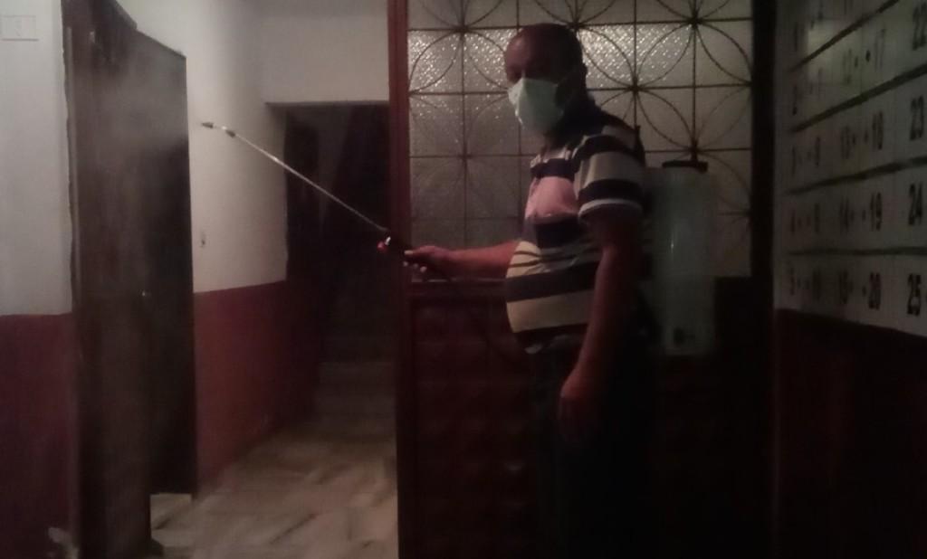 Şafak Apartmanında Dezenfekte İşlemi Yapıldı