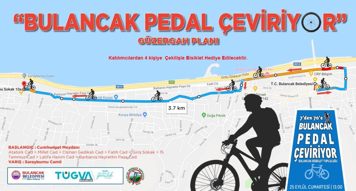 Bulancak Belediyesi'nden ödüllü 7'den 70'e bisiklet turu