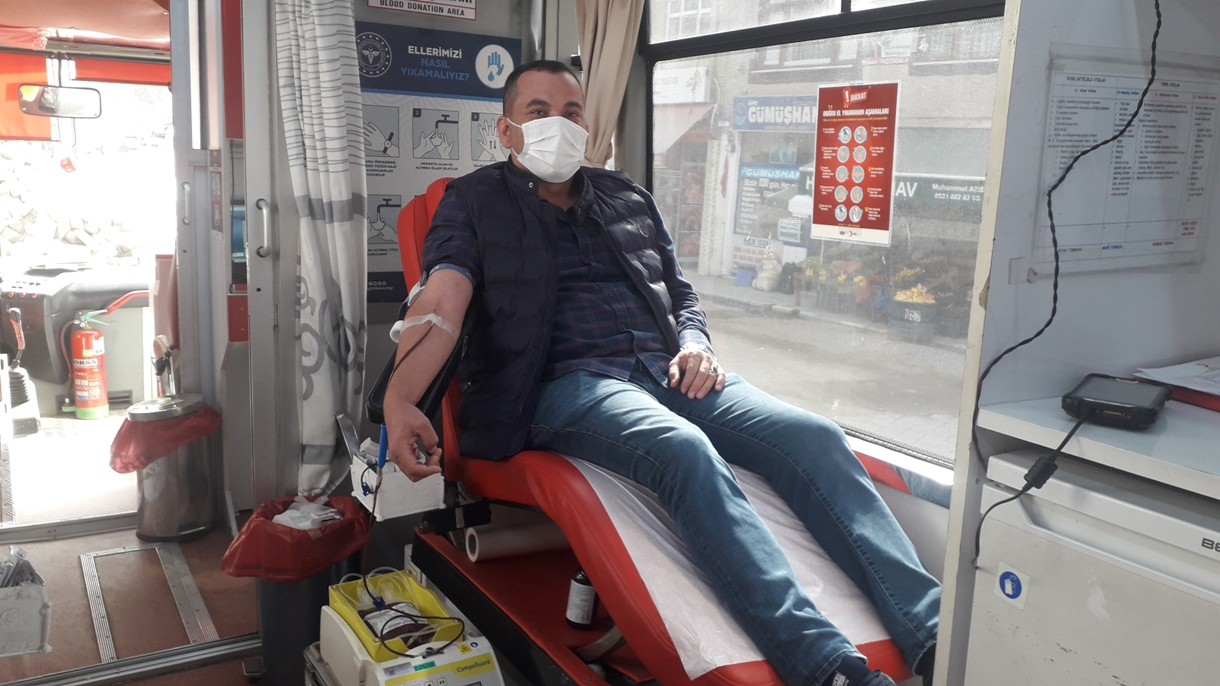 Doğankent'te kan bağışı kampanyası düzenlendi